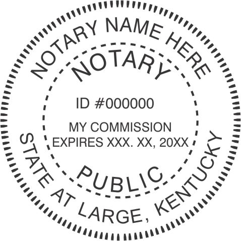 State of Kentucky N53 Notary Style 3