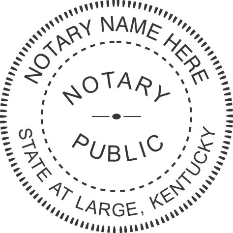 State of Kentucky R40 Notary Style 1