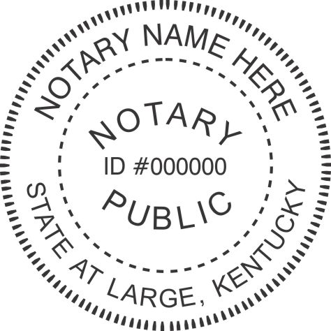 State of Kentucky R40 Notary Style 2