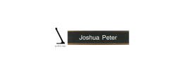 Nameplate with Holder
