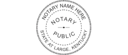 KYN531 - State of Kentucky N53 Notary Style 1