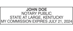KYP40 - State of Kentucky P40 Notary